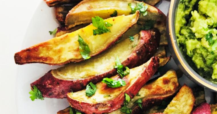 Murasaki Sweet Potato Wedges